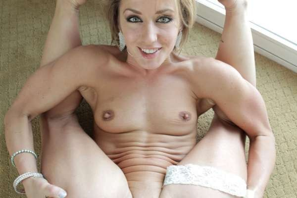 Sheena Shaw legs back pussy exposed.